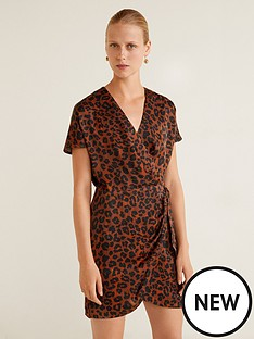 mango-mini-wrap-over-leopard-print-dress-brown