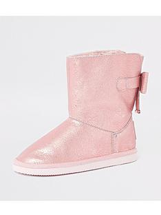 river-island-girls-metallic-faux-fur-lined-boot