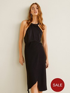 mango-satin-detail-back-dress