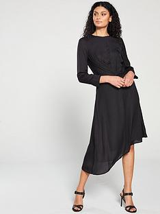 1e490f79dad8 Mango Mango Jacquard Leopard Print Asyemtric Dress