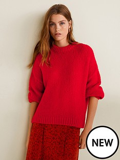 mango-high-neck-jumper-red