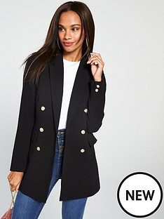 v-by-very-longline-military-blazer