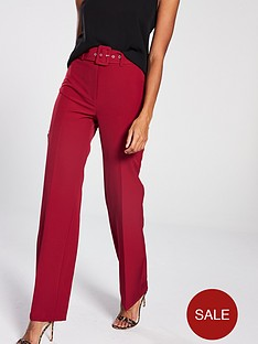 705842e318433 V by Very Belted Straight Leg Trouser