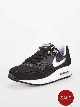 official photos 3fde4 b4707 Nike Air Max 1 Bg Junior Trainers - Black