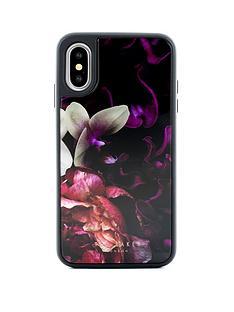 ted-baker-iphone-xs-glass-inlay-splendour-black