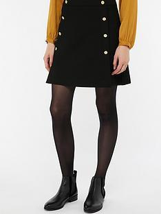 monsoon-margo-military-button-skirt-black