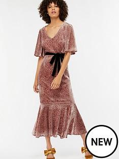monsoon-tahani-devore-midi-dress-pink
