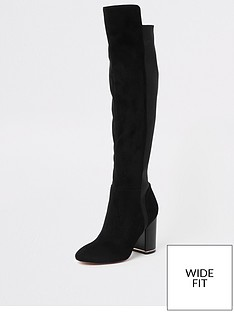river-island-river-island-wide-fit-contrast-heel-over-the-knee-boot-black