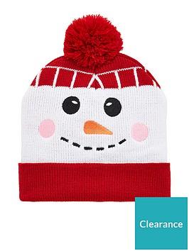 v-by-very-boys-snowman-pom-pom-christmas-hat-multi