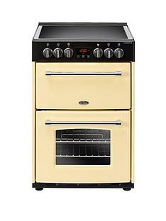 belling-60e-farmhouse-60cmnbspwide-double-oven-electric-cooker-cream-with-optional-connection