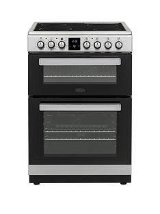 belling-fse608mfc-60cmnbspwide-electric-cooker-with-optional-connection--nbspstainless-steel