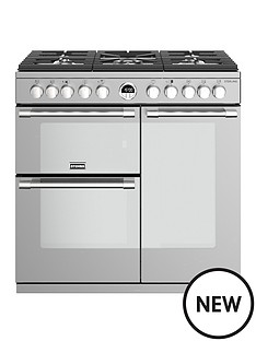stoves-sterling-s900df-dual-fuel-90cm-wide-range-cooker-stainless-steel-with-optional-connection