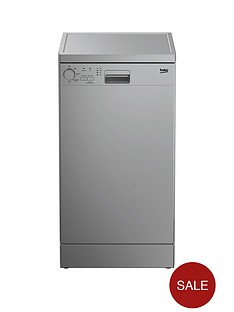 beko-dfs04010s-10-place-freestanding-slimline-dishwasher-silver