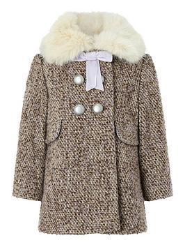 a9acb0f5fe7b Monsoon Baby Lavender Tweed Coat