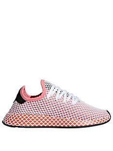 c58d9483106e0 adidas Originals Deerupt Runner Trainer - Pink White