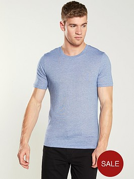 253d9708b4ad Selected Homme Perfect Thin Stripe T-Shirt - Blue ...