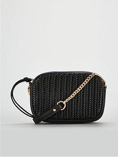 8e77a81c6d V by Very Panda Weave Panel Crossbody Bag