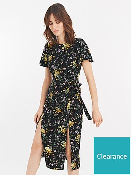 d269d231310f Oasis Frieda Ditsy Split Hem Midi Dress | littlewoodsireland.ie