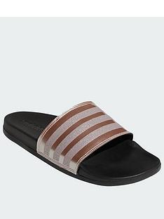 f94fd3ba97aac7 adidas Adilette Comfort - Black Metallic