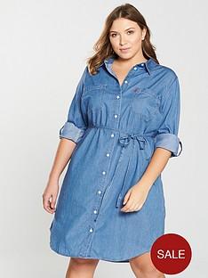 levis-plus-plus-bebenbspbelted-shirt-dress--nbspblue