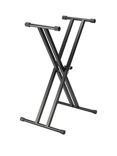 stagg-double-braced-heavy-duty-x-frame-keyboard-stand