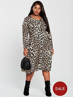 v-by-very-curve-animal-button-through-midi-dress-leopard-print