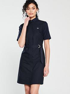 fred-perry-belted-shirt-dress-navy