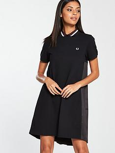 fred-perry-pleated-back-pique-dress-blacknbsp