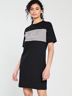 fred-perry-embroidered-t-shirt-dress-black