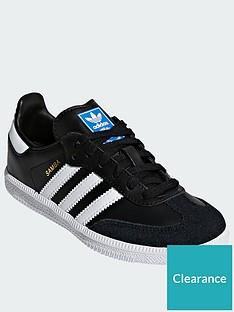 adidas-originals-samba-childrensnbsp--blackwhitenbsp