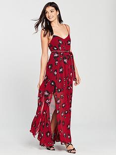 religion-religon-ashley-floral-print-strappy-maxi-dress
