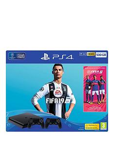 playstation-4-fifa-19-500gb-console-bundle-with-second-dualshock-4-controllernbspand-optional-extras
