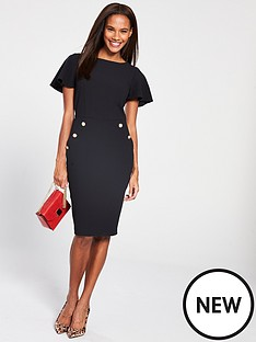 v-by-very-button-side-pencil-dress