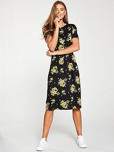 v-by-very-twist-front-midi-dress-print