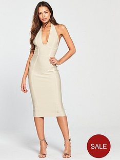 the-girl-code-halter-neck-bandage-midi-dress-nude