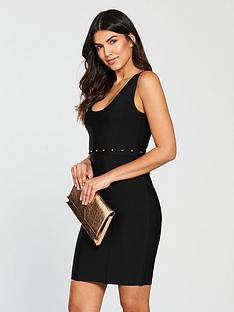 the-girl-code-the-girl-code-bandage-studded-waist-dress-mini-dress