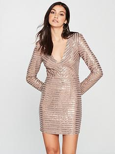 the-girl-code-power-shoulder-sequin-panel-dress-metallic