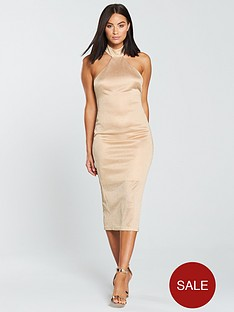 the-girl-code-lurex-jersey-high-neck-midi-dress-gold