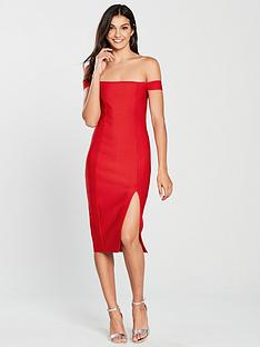 the-girl-code-bardot-midi-bandage-dress-red