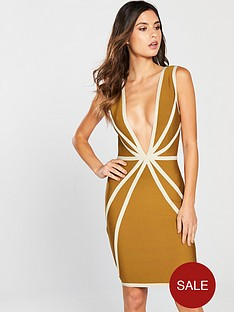 the-girl-code-contour-bandage-dress-mustard
