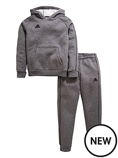 adidas-youth-core-18-sweat-hooded-tracksuit-grey