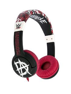 wwe-wwe-stars-dean-ambrose-design-wired-headphones-with-safe-sound-limiter