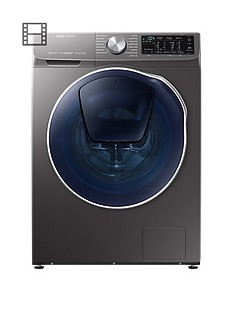 samsung-wd90n64500xeu-9kgnbspwash-5kgnbspdry-1400-spin-quickdrivetrade-washer-dryer-with-addwashtradenbspand-5-year-samsung-parts-and-labour-warranty-graphite