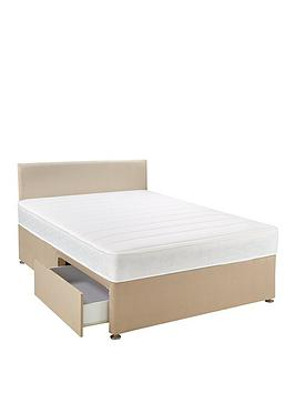 e26a2ad4cbec Airsprung Calie Memory Divan Bed with Storage Options, Headboard and Next  Day Delivery - Natural or Grey