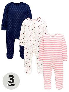 mini-v-by-very-baby-3-pack-spots-hearts-and-stripe-sleepsuitsnbsp--multi-coloured