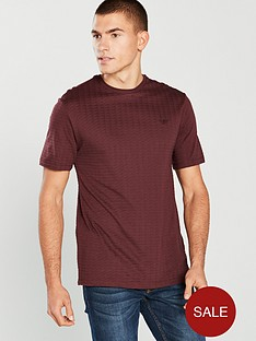 river-island-red-waffle-slim-fit-short-sleeve-t-shirt