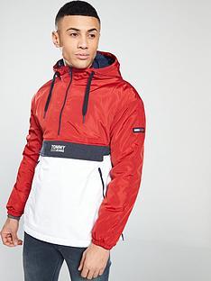 0b09549671 Tommy Jeans Colourblock Overhead Jacket