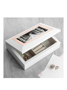 personalised-glossy-white-jewellery-box-with-rose-gold-finish-inlay