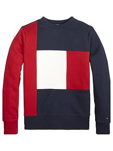 tommy-hilfiger-boys-colour-block-flag-sweatshirt-red