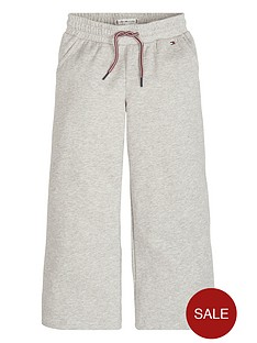 9ee6b17169 Tommy Hilfiger Girls Wide Leg Cropped Joggers - Grey